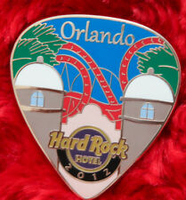 Hard Rock Cafe Pin ORLANDO HOTEL Postcard GUITAR PICK Series Roller Coaster logo