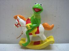 Vintage 1982 My Kermit The Frog On Rocking Horse Henson Assoc Ornament