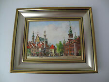 J.Sosnowski painted picture Warsaw in gold/Silver  frame 13 x 10 Jaslo