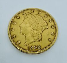 1898-S United States Liberty Head Gold $20 Dollar Double Eagle Coin