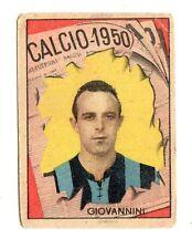 CALCIO FIGURINA  CALCIATORI   VAV  CAMPIONATO 1950   INTER  GIOVANNINI