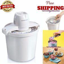Ice Cream Frozen Yogurt Sorbet Gelato Maker Hamilton Beach 4 Quart Machine New