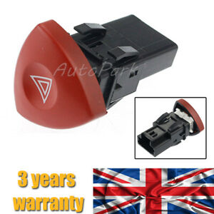 Hazard Warning Light Switch For Renault Laguna Nissan Primastar Vauxhall Vivaro