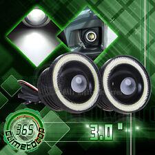 "3.0"" LED Fog Light Projector White Angel Eye COB Halo Ring DRL Driving Bulbs USA"