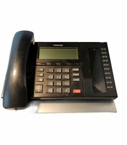 Used Toshiba DP5022SD 4 line digital phone 10 programmable buttons.