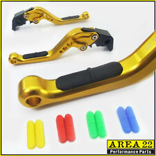 Area 22 Yamaha FZ1 FAZER 2001 - 2005 Rubber Insert Adjustable Short Levers Gold