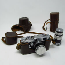 Canon Rangefinder VL Camera w 1.8 50mm & 3.5 100mm Lenses with Cases Filter Lot