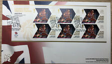 GB FDC London Olympic Games Gold minisheet Jessica Ennis 2012