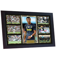 Cristiano Ronaldo signed autograph print photo poster picture JUVENTUS FRAMED