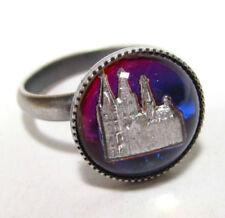 Modeschmuck-Ringe aus gemischten Metallen Handgemachtes-Glas