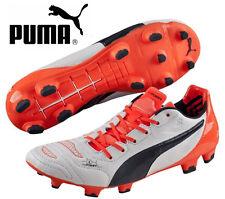 Puma EvoPower 1.2 L FG Football Soccer Boots White / Total Eclipse / Lava Blast