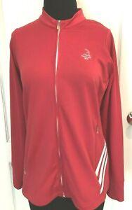 Adidas Climalite Pinehurst Women's Golf Full Zip Jacket Size MEDIUM Deep Pink