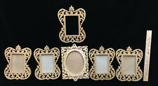 Picture Frames Wooden Lace Cut Out Scroll Work Wood Working Craft Lot 6 Handmade