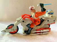 Star Wars Luke Skywalker With R2D2 Push Along Motorised Bike Hasbro 2005 Free P