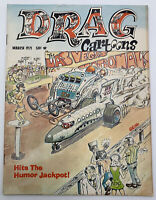 Drag Cartoons Magazine March 1971 Vintage Copy Racing Volume 9 Number 2
