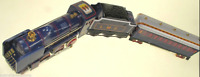 """TIN TOY LMS """" STEAM""""TRAIN TENDER & PASSENGER CARRIAGE CLOCKWORK COLLECTABLE"""