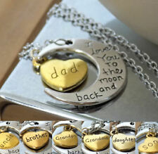 Love You to the Moon and Back Family Member Handmade Pendant Necklace Keepsake