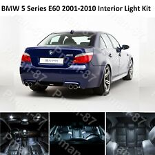 DELUXE BMW 5 SERIES E60 2001-2010 WHITE INTERIOR WHITE UPGRADE LED LIGHT BULBS