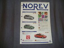 612B Opuscolo 2001 Norev 2 Pagine Cofanetti TDF Champion R17 Camion 307