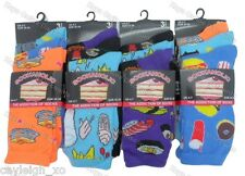 6 Pairs Ladies Womens Novelty Design Socks Cotton Blend DESIGNER Adults 4-7 Food