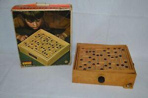 Vintage Wooden Labyrinth Maze Game by Brio Made in Sweden Original Box