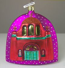 Artistry of Poland THE MISSION CHRISTMAS ORNAMENT Hand Blown Painted Glass NIB