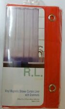 """70"""" x 72"""" Vinyl Magnetic Shower Curtain Liner with Metal Grommets"""