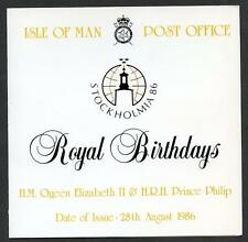 Isle of Man 1986 Royal Birthdays presentation folder (2014/05/05#4)
