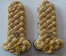 Generals Shoulder Boards, Army, Military, Pair, Dress, Cords, Lieutenant, Gold