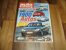 AUTO KATALOG  1999 -- 1900 Modelle aus aller Welt / Betriebskosten -- Preise