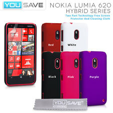 Accessories For The Nokia Lumia 620 Hard Hybrid Case Cover & Screen Protector UK