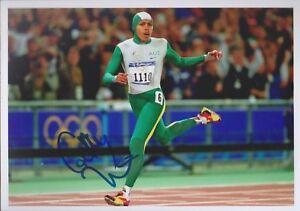 CATHY FREEMAN 8 Olympia 13x18 signiert IN PERSON Autogramm signed RAR