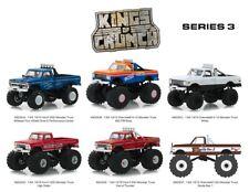 Greenlight 1/64 Kings Of Crunch Series 3 Set of 6 BigFoot Monster Trucks 49030