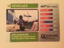 Octopussy The Acrostar #18 Vehicles - 007 James Bond Spy Files Card