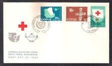 CYPRUS 1975 RED CROSS NURSE NURSES DAY, INTERNATIONAL WOMEN YEAR SET UNOF/AL FDC