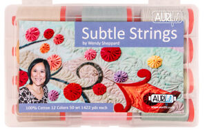 AURIFIL THREAD SUBTLE STRINGS FROM WENDY SHEPPARD 100% COTTON LARGE SPOOLS 50W