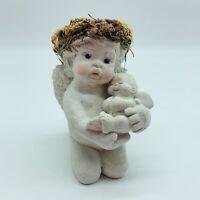 1993 Dreamsicles Angel Cherub Figurine w Baby Cherub Signed Kristin Cast Art