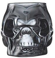Skull Votive Grey Smoke Glass Decorative Ornament Tea Light Candle Holder