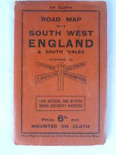 South West England & South Wales Road Map  - Cloth - Geographia
