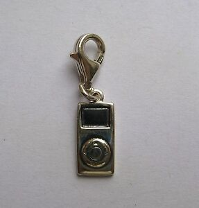 925 Sterling Silver clip on MP3 player charm