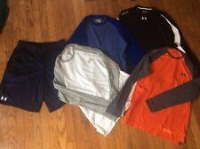 Mens Under Armour Long Sleeve Shirts Loose and Shorts (L) ~ Medium lot of 5