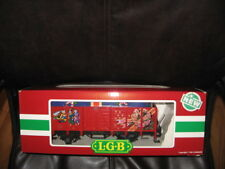 LGB #4021 CT Blue Christmas Gift in Gondola New In Box