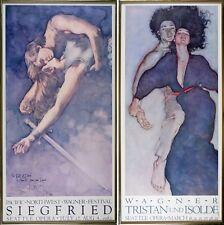 Original Vintage Opera Posters 1981 ~ 1982 Signed David Kreitzer, 2 Metal Framed
