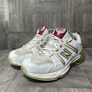 New Balance Abzorb WX1008W Running Shoes Size 10 White And Gold
