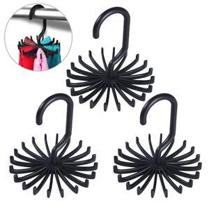 20 Rotating Tie Rack Hanger Organizer Twirling Scarf Belt Tie Hook Holder Ties