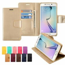 Card Slot Pocket Kickstand Flip Leather Wallet Case Cover Silicon For Galaxy
