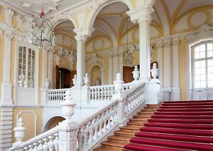 VLIES Fototapete-ARCHITEKTUR-(5150V)-Treppen Palast Bögen Säulen Barock Rokoko