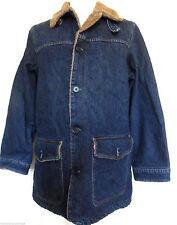 Men's Denim Fleece Button Collared Coats & Jackets