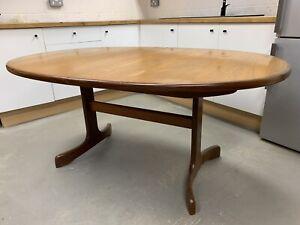 G Plan Extending Dining Table Teak Wood Oval Vintage Mid Century MCM Retro