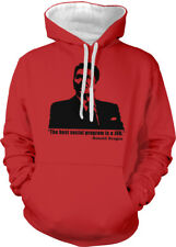 The Best Social Program Is A Job Reagan Quote Supply Two Tone Hoodie Sweatshirt